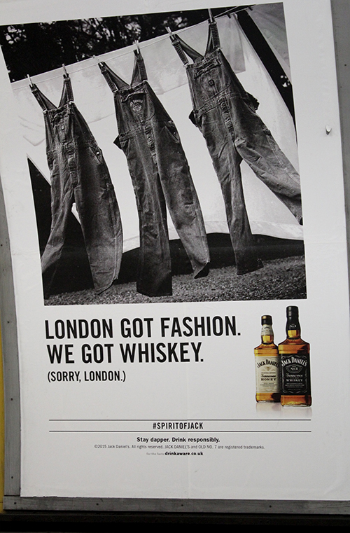 Reklama Londono metro