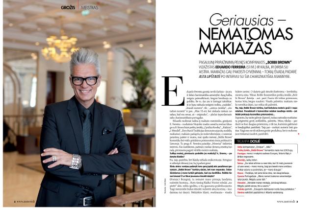 Interviu su Eduardo Ferreira žurnale MOTERIS